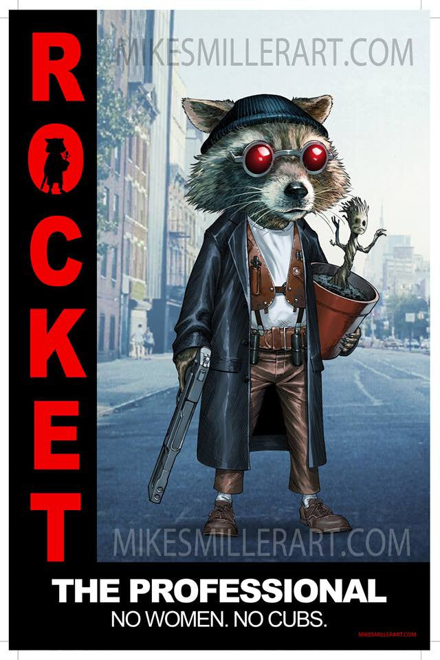 Rocket the Professional (spoof) 11x17 print