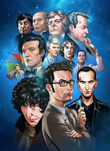 Doctor Who x 12 11x17 art print