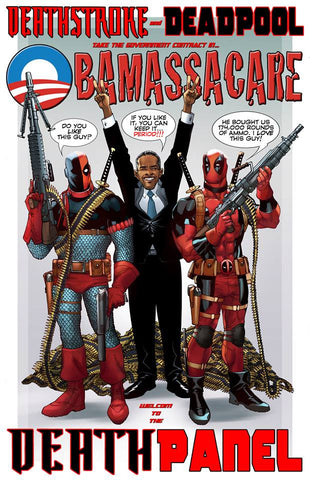 DEADPOOL- 'The Death Panel' 11x17 print