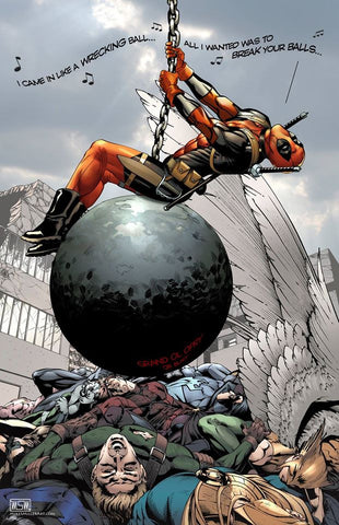 DEADPOOL- 'Wrecking Ball' 11x17 print