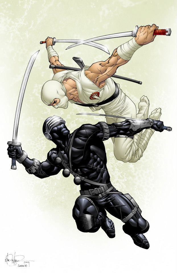Snake Eyes vs Storm Shadow 11x17 print
