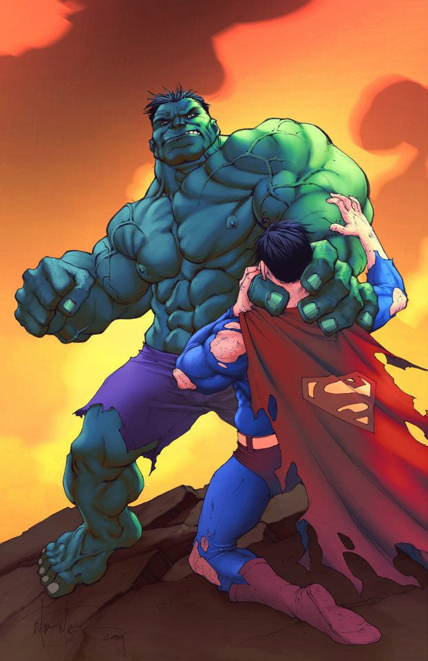 Hulk Vs. Superman 11x17 print