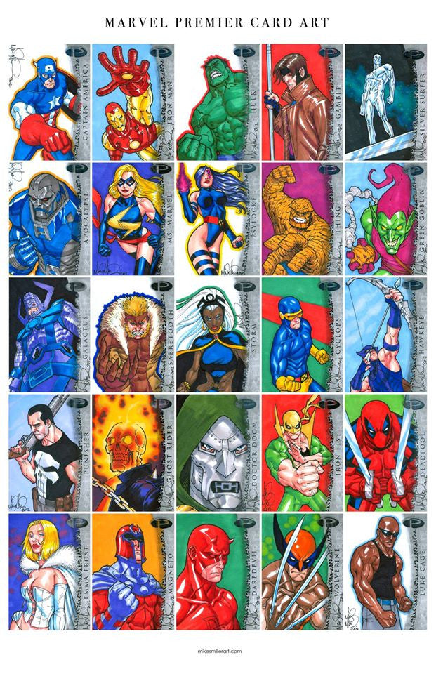 Marvel Premier Card Art 1 11x17 print