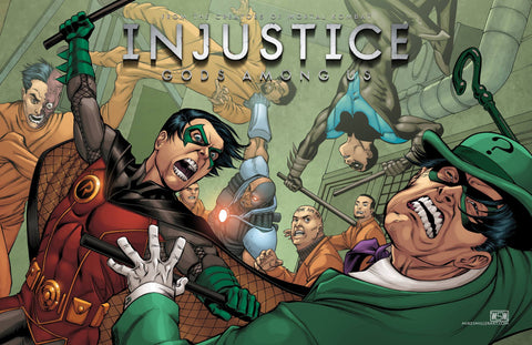 Robin Arkham fight Injustice 11x17 print