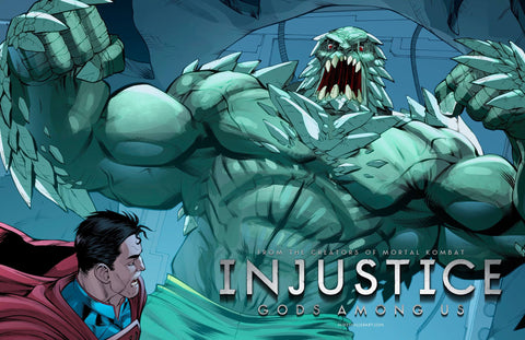 Doomsday vs Superman Injustice 11x17 print