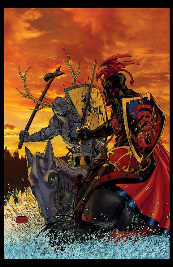 Game of Thrones Robert and Rhaegar on the Trident 11x17 print