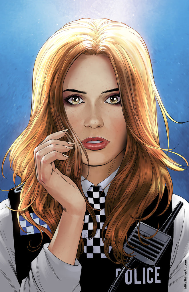 Doctor Who Amy Pond portrait 11x17 print