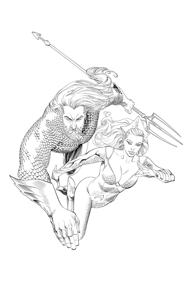 Drawn and Quartered entry: Aquaman and Mera