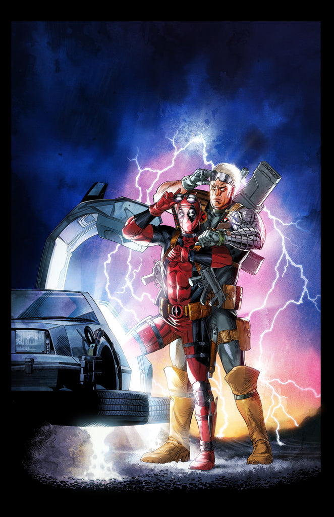 DEADPOOL-CABLE 'Back to the Future 2' movie poster spoof 11x17 print