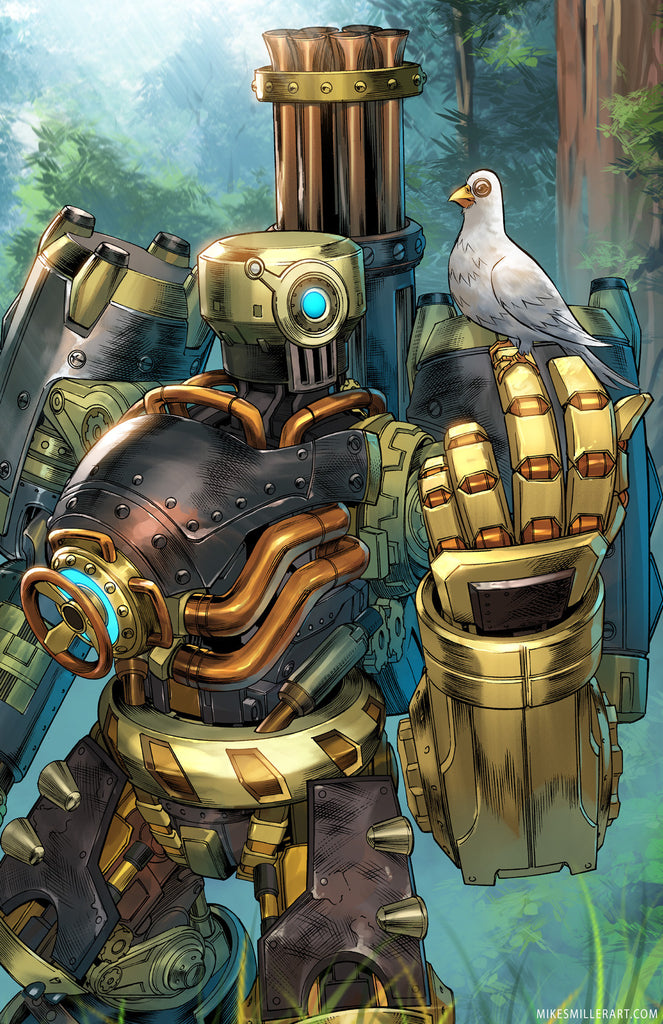 Overwatch: Bastion (Steambot legendary) 11x17 print