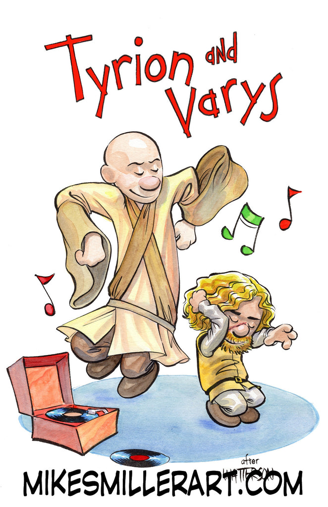 Tyron and Varys Calvin and Hobbes Homage 11x17 art print