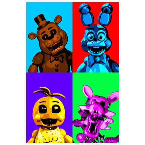 Five Nights at Freddie's WARHOL 11x17 print