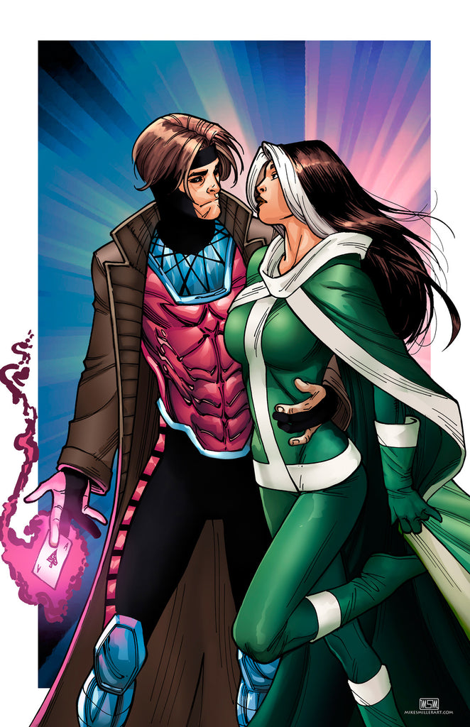 Gambit and Rogue 11x17 print