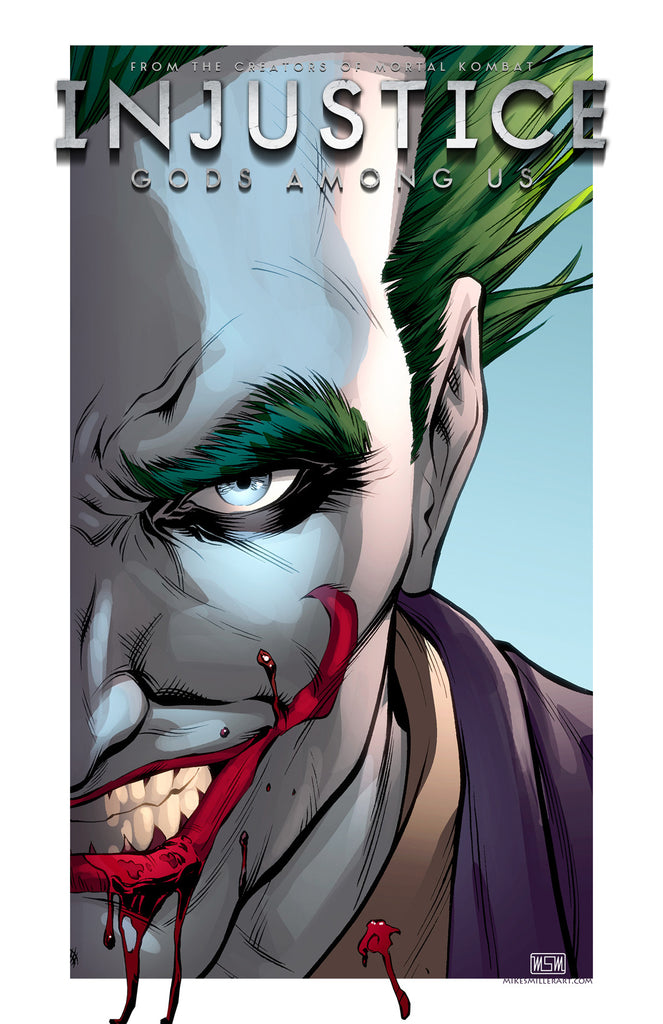 Joker Injustice 11x17 print