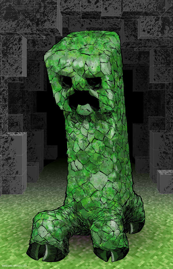 Minecraft Creeper 11x17 print