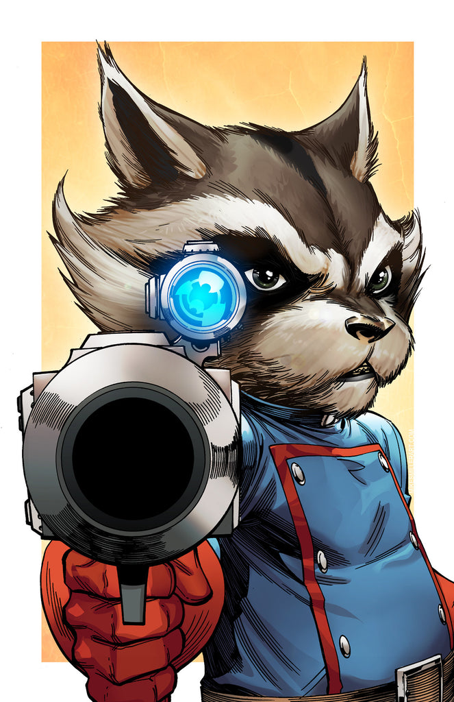 Rocket Raccoon 11x17 print