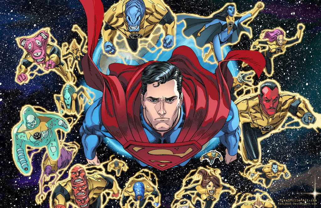 Superman and Sinestro Corps Injustice 11x17 print