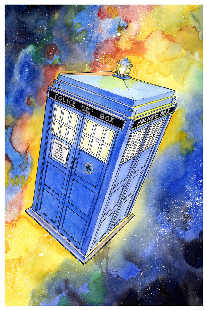 Doctor Who Tardis 11x17 print