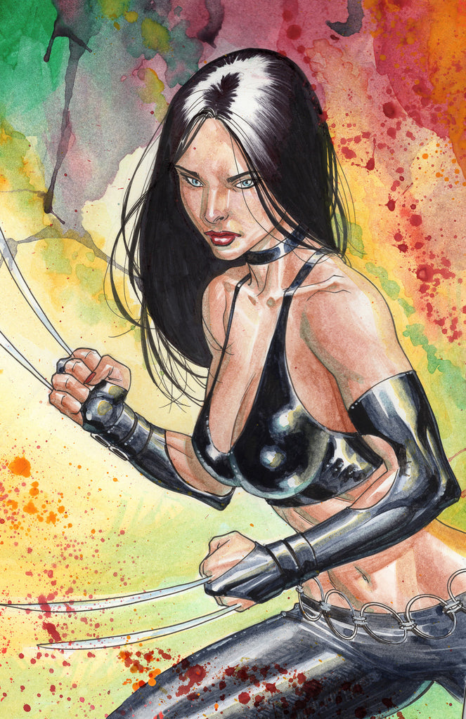 x-23 watercolor 11x17 print