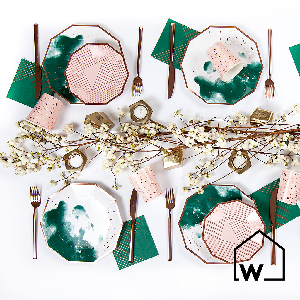 Green & Rose Gold Foil Party Box