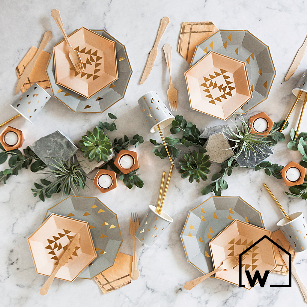 Grey & Gold Foil Party Box