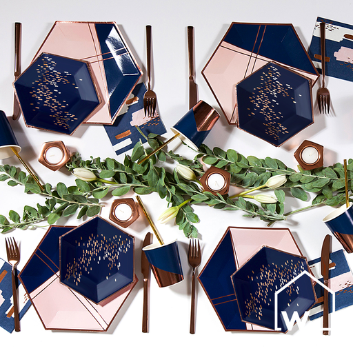 Navy & Rose Gold Foil Party Box