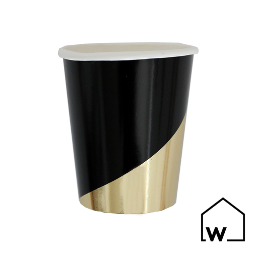 Black & Gold Foil Paper Cups