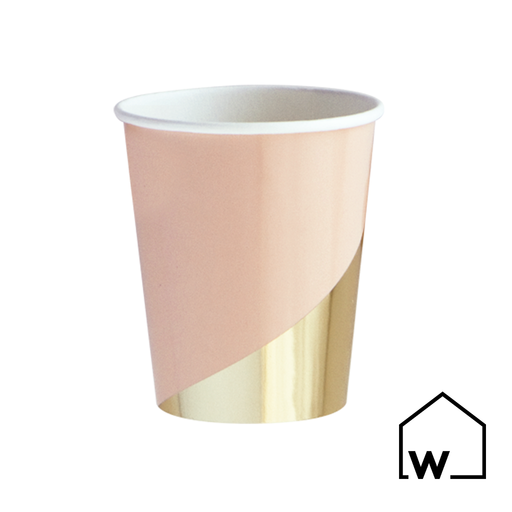 Pink & Gold Foil Paper Cups