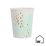 Watercolor & Gold Foil Paper Cups