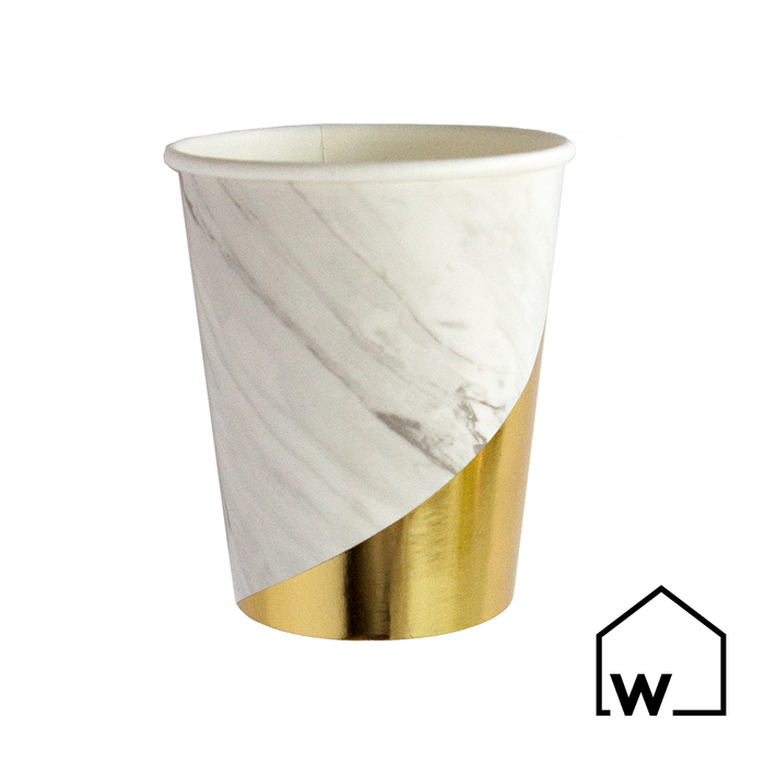 Marble & Gold Foil Paper Cups
