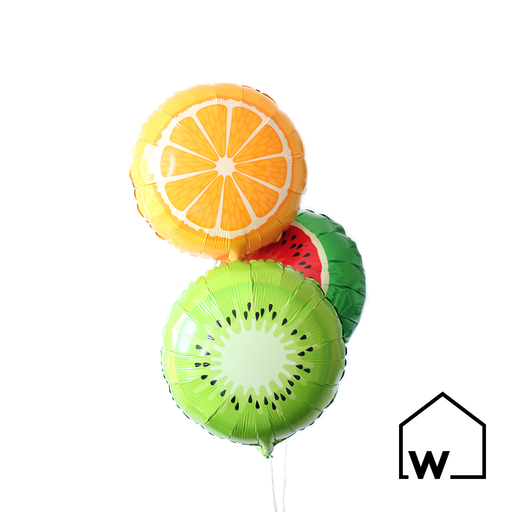 "18"" Foil Fruits Balloons (Set of 3)"
