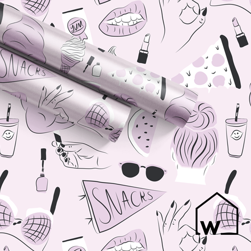Girls' Night In Wrapping Paper