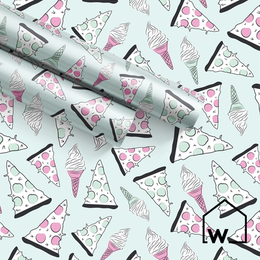 Pizza & Ice Cream Wrapping Paper