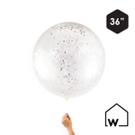Giant Iridescent Confetti Balloon