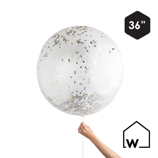 Giant Metallic Confetti Balloon