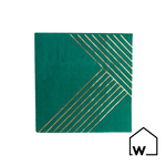 Green & Gold Foil Napkins