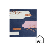 Navy & Rose Gold Foil Napkins