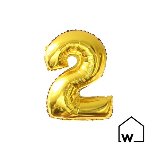 "26"" Gold Foil Number Balloon"