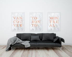 "Marble & Rose Gold ""MONTREAL"" Digital Art Print"