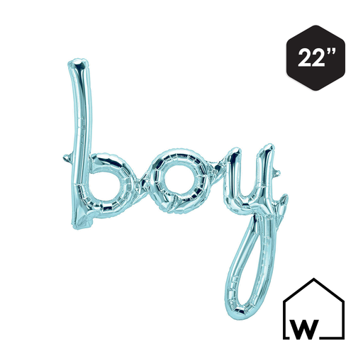 Blue Foil BOY Balloon