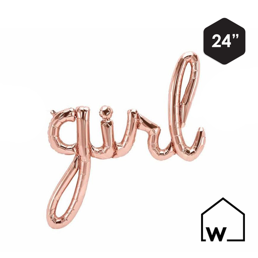 Rose Gold Foil GIRL Balloon