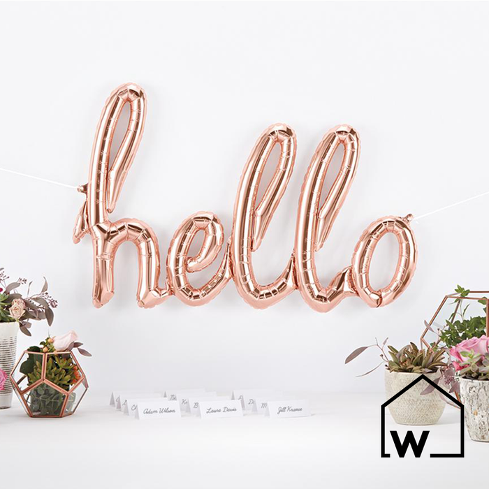 Rose Gold Foil HELLO Balloon