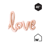 Rose Gold Foil LOVE Balloon