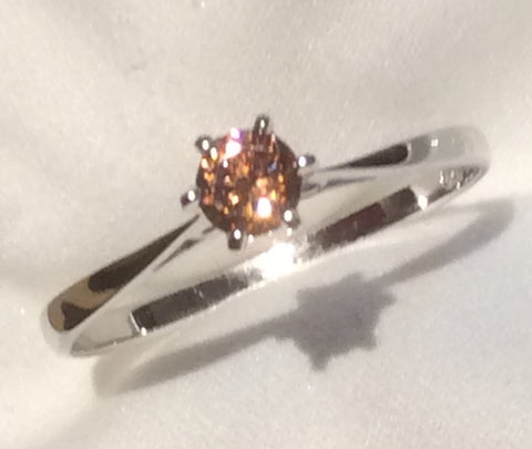 Natural Australian Zircon set into a white gold ring