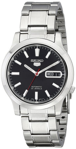 Seiko Men's Stainless-Steel Analog with Black Dial Watch SNK795K1S