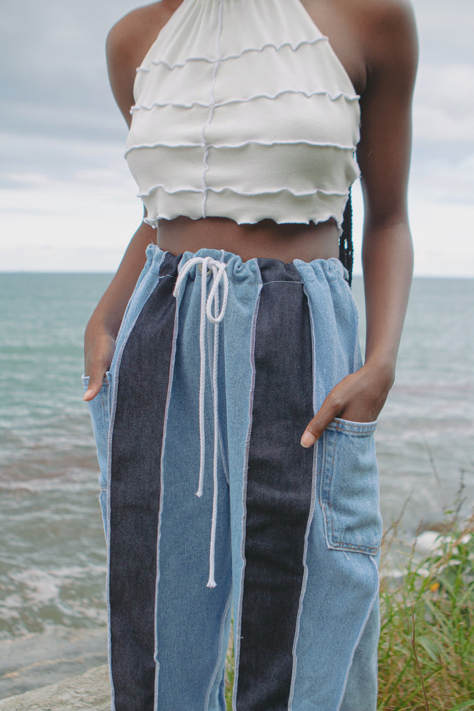 Drawstring Denim