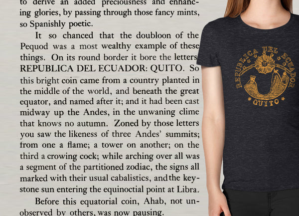 The Doubloon; or, the Moby-Dick T-shirt (women's)