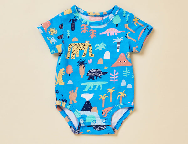 SHORT SLEEVE BODYSUIT - MEGAFAUNA