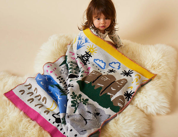 BIG ADVENTURES - KNIT BLANKET - 100% COTTON
