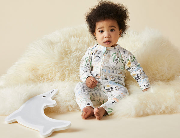 BIG ADVENTURES - LONG SLEEVE ZIP SLEEPSUIT